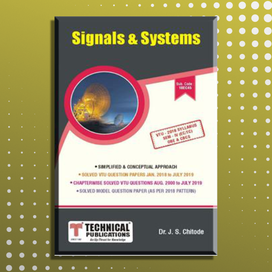 Signals And Systems Cbcs Scheme J S Chitode Technical Publications