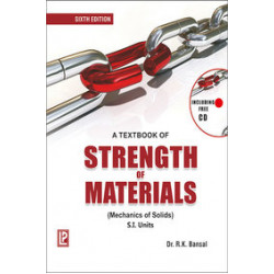 Textbook Of Strength Of Materials Si Units W/Cd |  Rk Bansal  | Laxmi Publications