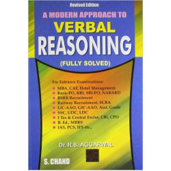 A Modern Approach to Verbal Reasoning , R.S. Aggarwal , S Chand