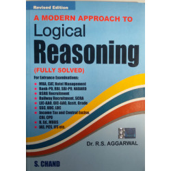 A Modern Approach To Logical Reasoning by Aggarwal  (English) 1st Edition