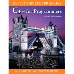 C++ for Programmers, Paul J Deitel, Harvey M Deitel, Pearson Education, 2009